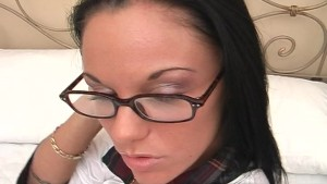 Babe With Glasses Fuck And Facial