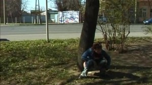 sweet babe pees in public
