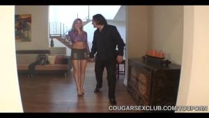 three hot cougars sharing dick