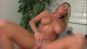 Peter North - Busty blond cummed