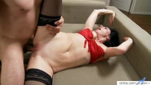 Horny Amateur Cougar Sucking Cock