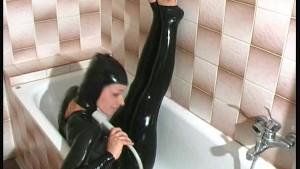 Taking a bath in latex