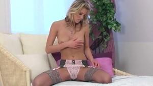 Masturbation in lingerie
