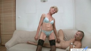 Amateur Mature Mom with Young Gent