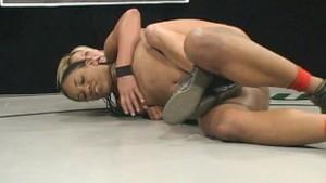 Exotic beauty in a lesbian wrestling!