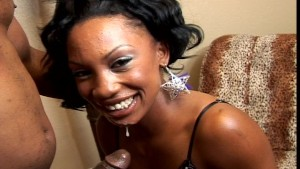 Pretty black girl gets a mouth full pt 3/3