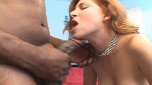 Red headed white girl gets jammed by black guys cock