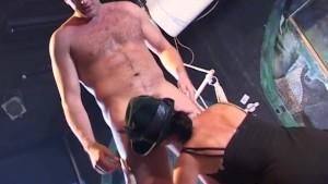 CFNM Party cock sucking