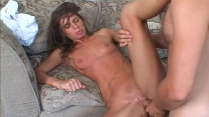 A couple dominate a hot chick