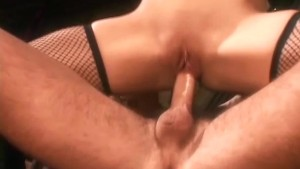 Sex in boots and fishnet lingerie