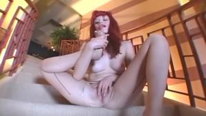 Toe sucking pantyhose masturbation