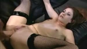 Chloe anal in fishnet nylons