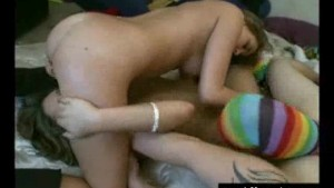 Hardcore Girl Girl Boy Threesome