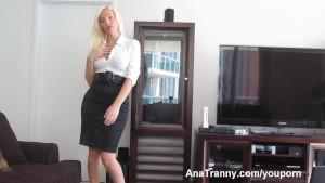 Sexy Shemale Secretary!
