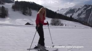 Eroberlin presents Anna Safina sexy Ski in Austria