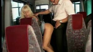 Sex on the bus with older woman