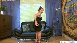 Lonely Asian Milf in Sexy Stockings Masturbates