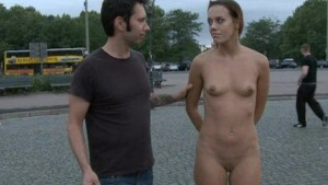 European hottie fully nude in street