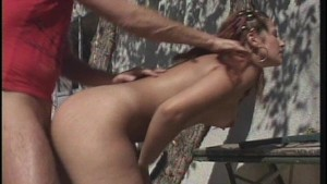 Naked outdoor fucking