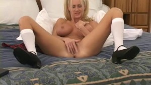 NAUGHTY GIRL PLAYS WITH FAVORITE TOY - SKIRT