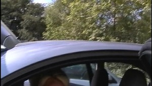 beautiful blonde sucks dick in the back of a car