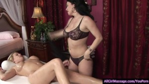 Oil Massage Turns to Hot Lesbo Action
