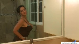 Hariy Cougar In Shower Masturbation