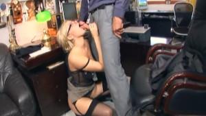 Secretary fucking in stockings and stilettos