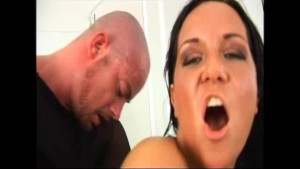 Naughty brunette fucked anal in spandex