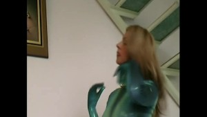 Big tit Pornstar in tight lycra