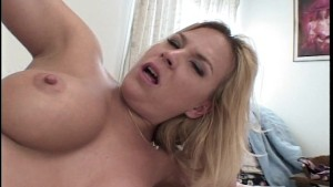 blonde giggles with pleasure (CLIP)