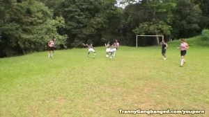 Tranny Soccer Team Fucking Ref
