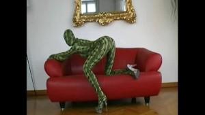 Flexi Sophie in spandex like a snake (clip)