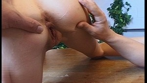 Hot blonde girl takes it up the arse