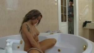 Chubby Nicole shower DP payback