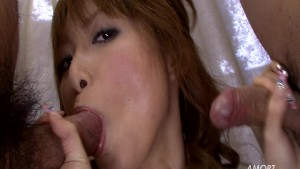Double-Blowjob From Asian