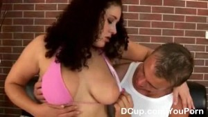 Hot boobies showered in hot cum