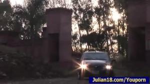 Taxi Driver Seducing Hot Julian