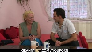 Young dude picks up and bangs lonely granny