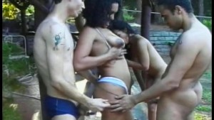 Bi-Brazilians orgy - Gentlemens Video