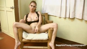 Sapphire Young in Black lace