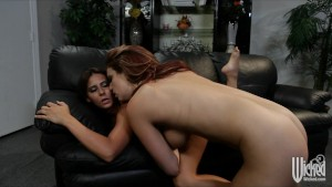 Hot busty college lesbian school girls eat each ot