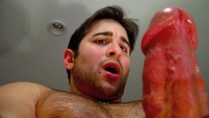 Thick Cumming cock on young muscle stud
