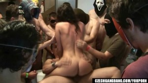 WIFE S DREAM COMES TRUE AT CZECH GANG BANG