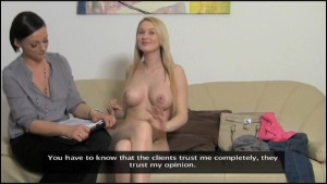 FemaleAgent. Big breasts casting.