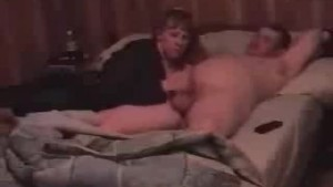 Busty girl does blowjob in hom