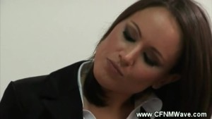 Naked guys hard dick gets the cfnm sluts going at the office