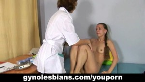 Gyno doctor seduces her young patient