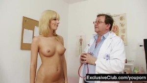 Blonde Bella Morgan visit gyno