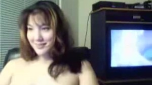 Hot GF chatting topless
